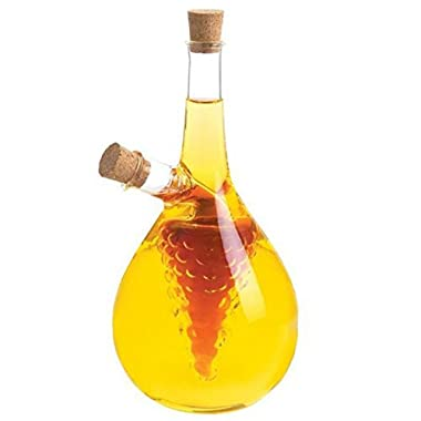 Eleton Kitchen Storage Cooking Tools Oil and Vinegar Bottle, Cruet 8  With Grape Cluster