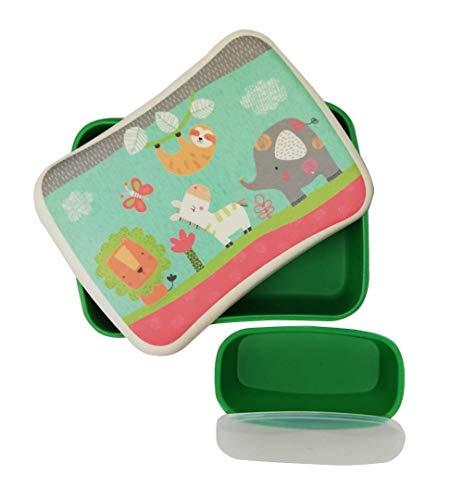 Bambus Frischhaltedosen für Kinder und Babys ♻ Set LunchBox aus Bambusfaser mit Luftdichter Deckel - Umweltfreundlich Frischhaltebox, Ókologisches Material BPA-frei - Öko Brotdose Spülmaschinenfest