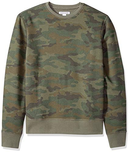 Amazon Essentials Patterened Crewneck Fleece Sweatshirt Sudadera, Camuflaje, M