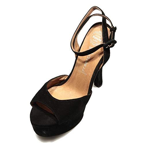 78242 Sandalo Donna JEFFREY CAMPBELL Bow-Down Black Suede Shoes Women [40]