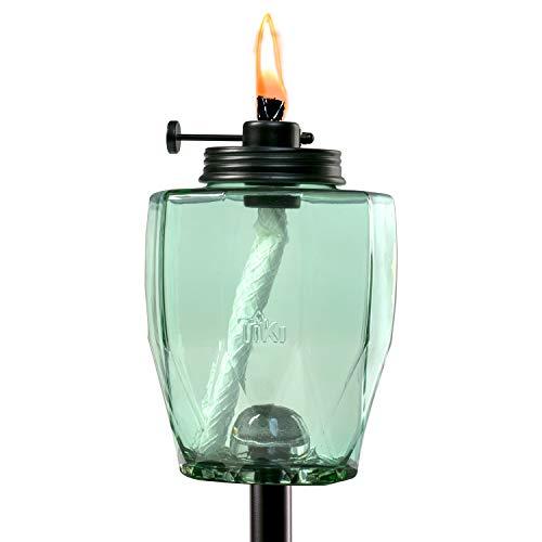 TIKI Brand Adjustable Flame Teal Torch (Glass)