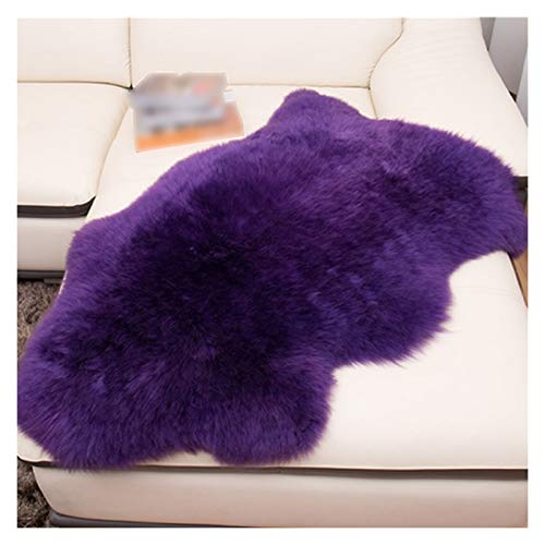 Cojín silla Cojín De Suelo Throw Almohada Alfombra De Lana Dormitorio Cojín Del Sofá De Noche De La Alfombra Asiento De Meditación Throw Cushion (Color : Purple, Specification : 75cm 155cm)