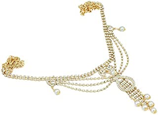 Project Luxe Beautiful Slim Kamarband for Women and Girls - Waist Hip Chain with Crystal Stone Work