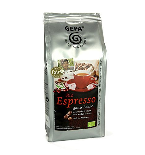 Gepa Bio Espresso ( 6 x 250 g ) ganze Bohne. Fair Trade Kaffee