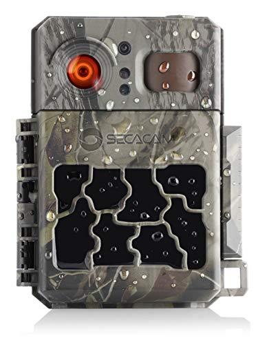 SECACAM Pro Plus inkl. Fernbedienung - Wildkamera Überwachungskamera 80° Winkel Full HD Nachtsicht