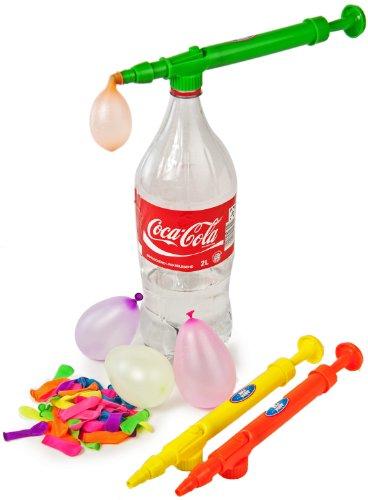 Nick and Ben Wasserballon Pumpe - super Praktisch - für PET Flaschen & 50 Wasserbomben Wasserspritze Wasserpistole