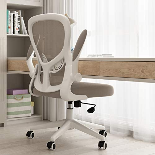 Hbada Office Chair Ergonomic Desk Chair Computer Mesh Chair with Lumbar Support and Flip up product image
