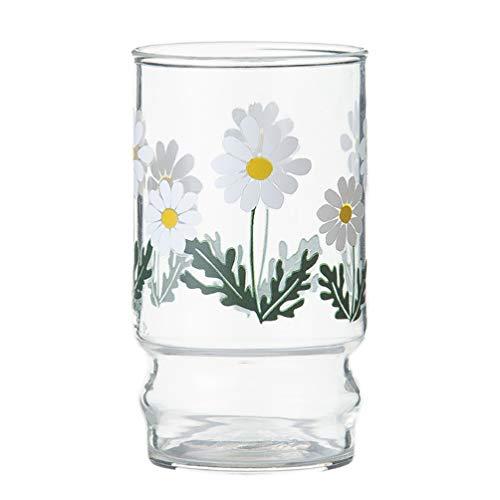 Doitool - Vasos para beber, resistentes al calor, diseño de flores, p