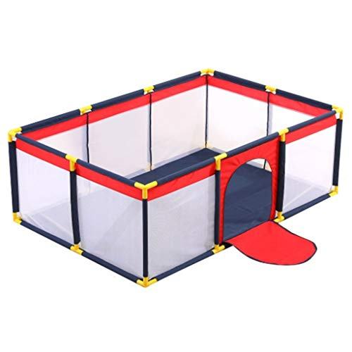 Great Features Of Baby playpen Playpen, Lightweight Square Baby Playpen Foldable Perspective Net Wat...