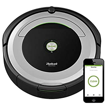 iRobot Roomba 690 Robot Vacuum-Wi-Fi Connectivity Works with Alexa Good for Pet Hair Carpets Hard Floors Self-Charging
