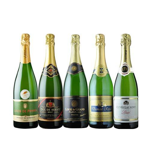 全部フランス産 辛口スパークリング5本セット 第17弾 スパークリングワインセット