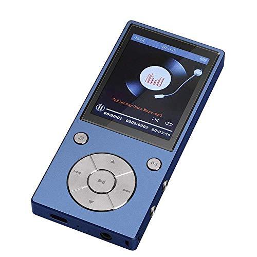 Bluetooth-MP3-Player, 16 GB, (2,4 Zoll), Eingebauter Lautsprecher, Metallgehäuse