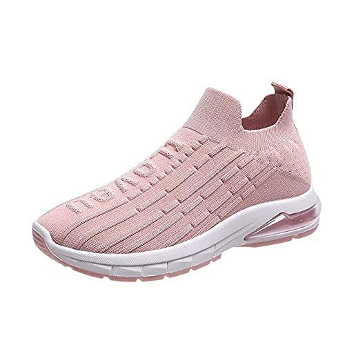 Aerlan Gym Shoes Lightweight Shoes,Calzado Deportivo Casual, Senderismo, Zapatillas para Correr Transpirables-Pink_39,Botas de montaña Deportivas