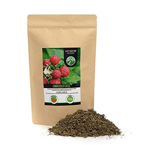 Té de hojas de frambuesa (125g), hojas de frambuesa cortadas, suavemente secadas, 100% puras y naturales para la preparación de té, té de hierbas