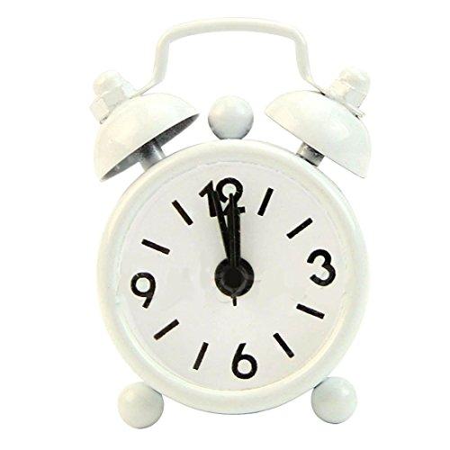 joyliveCY Neue Heimat im Freien beweglicher Reizende Nette Karikatur Nummer Wählen Runde Schreibtisch Alarm Mini Clock