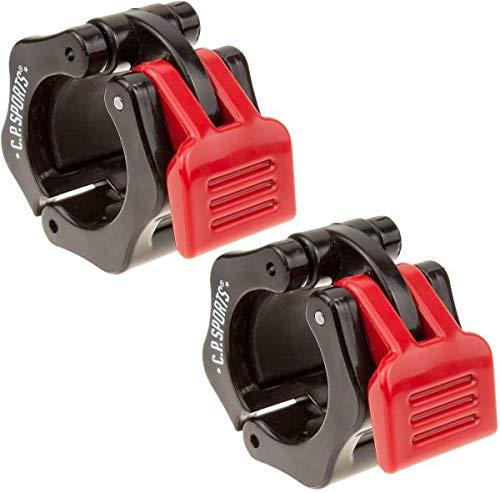 C.P. Sports Schnellverschluss für Hanteln 28 mm I praktischer Hantelverschluss mit Einhandmontage für sicheres Training & schnellen Scheibenwechsel I robuste Kunststoff-Hantelklemme, schwarz