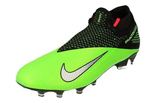 Nike Phantom VSN 2 Elite DF FG Mens Football Boots CD4161 Soccer Cleats (UK 8 US 9 EU 42.5, Black Metallic Platinum 036)