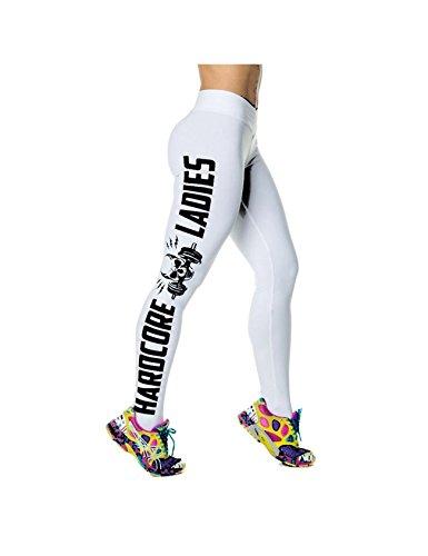 Zacoo Graphic Print Sport Yoga Gym Fitness Workout Gamaschen Hosen S