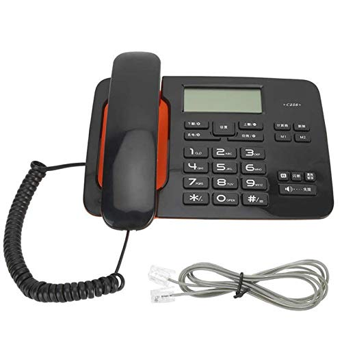 CHENXU Oficina Teléfono Fijo Pantalla de Pantalla LED de telefonía con Cable de Oficina en casa