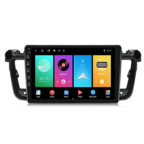 ADMLZQQ Android10.0 Car Radio Navegación GPS para Peugeot 508 2010-2016 2.5D IPS Pantalla táctil FM Radio Pantalla Dividida Enlace Espejo Controles del Volante+Cámara Trasera,M100 1+16g