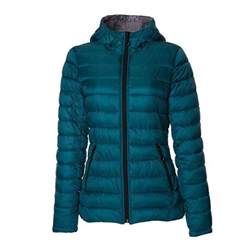 HFX Women's Lightweight Packable Jacket, Teal/Silver, Small
