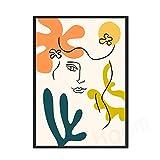 Picasso Matisse carteles e impresiones abstracto gato niña flor pared arte imagen familia sin marco lienzo pintura F 50x70cm