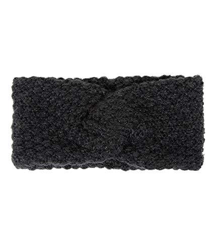 SIX Stirnband unifarben, Strick-Optik für Damen, Zopf-Muster, ideal für kühlere Herbst- und Wintertage (530-695)