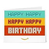 Amazon Gift Card - Print - Happy Happy Birthday
