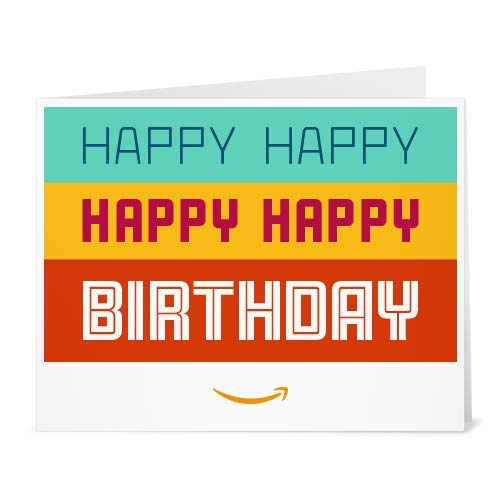 Amazon Gift Card - Print - Happy Happy Birthday