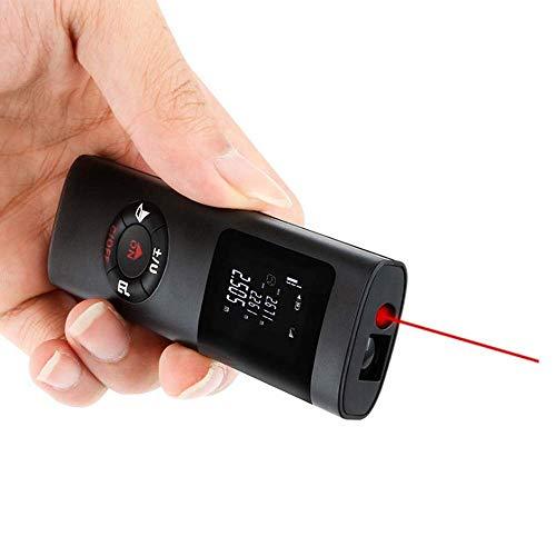 QIANRUNHE USB wiederaufladbare Mini-Laser-Entfernungsmesser 40m Elektronisches Messgerät Entfernungsmessgerät Infrarot-Lasermessung