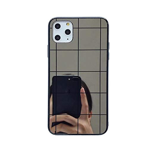 AAA&LIU Estuche para teléfono con Espejo de Maquillaje para iPhone 12 11 Pro MAX 7 8Plus XR XS MAX Glitter Funda Trasera de Silicona Suave, A, para iPhone 12