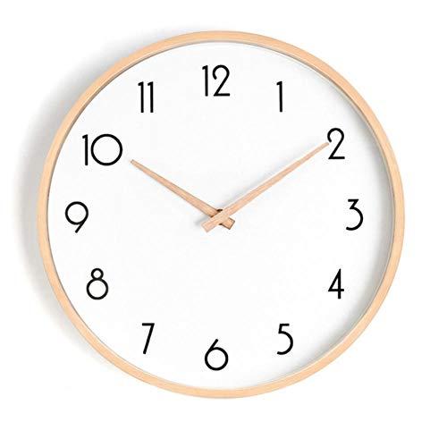 rrff Relojes De Pared Reloj De Pared De Madera Maciza Diseñ