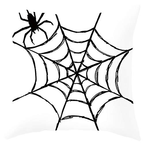 UNSKAM Halloween Geist Hexe Kürbis Kissenbezug Totenkopf Dekokissen Kissenbezüge Dekokissenhülle mit Verstecktem Reißverschluss für Sofa Auto Bett