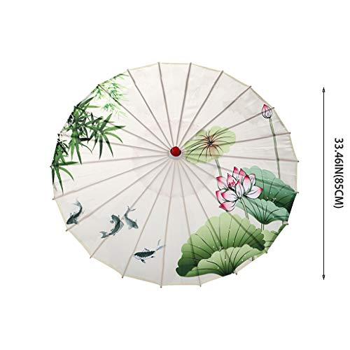 Decoración de Pascua China Tela de seda paraguas estilo clásico paraguas decorativo aceite papel paraguas (F)