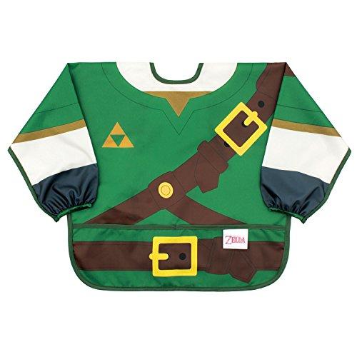 Bumkins Nintendo Zelda Sleeved Bib / Baby Bib / Toddler Bib / Smock, Waterproof, Washable, Stain and Odor Resistant, 6-24 Months