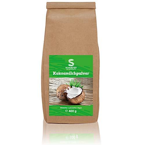 Bio Kokos-Nuss-Milch-Pulver | Kokos-Drink Glutenfrei | Lactosefreie Milch-Alternative | Veganes Milchpulver | 400g