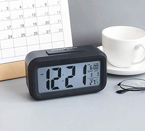Kidsmute Creatief nachthorloge met elektronische wekker, minimalistisch, creatief, voor slaapkamer en nachtbel, verlichte studie voor kinderen, prachtige kleine digitale smartwatch
