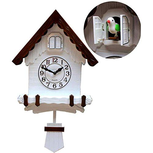 DIEFMJ Reloj de Pared Negro Reloj de Madera Antiguo Reloj de