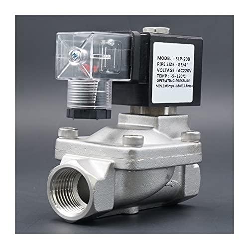YIJIAN-UMBRELLA Válvula solenoide válvula de Agua N.C válvula de Alta Temperatura de Acero Inoxidable Piloto de Alta presión Diafragma AC110V AC220V DC12V DC24V (Specification : 2', Voltage : AC110V)