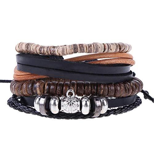 KJFUN Armbanden Armbanden Heren Lederen Armbanden Herenarmbanden Sieraden Vriendje Vriendin Armbanden