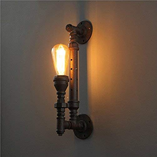 ZYY Applique murale rustique murale en métal avec bras de fer et lampe de poche murale Vintage Industrial RH Loft Iron avec douille E27 pour la maison, bar, restaurants, décoration de café-restaurant