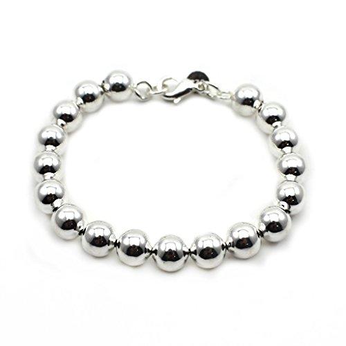 VANKER 1Pc Mode Argent Plaqué Perles Corde Chaîne Bracelet Unisexe Adorable Petit Cadeau