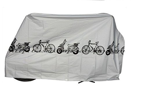 CarbonEnmy Wasserdicht Fahrrad Roller Motorrad Mofa Moped Mokick Hülle Abdeckung Schutz Grau
