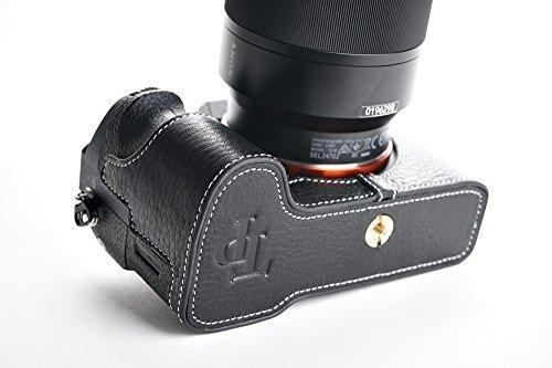 SONY ソニー α7 II / α7S II / α7R II用本革カメラケース ブラック、ブラウン (カメラケース&ストラップLK181&バッテリーケース, ブラック)