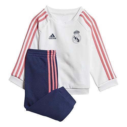 Adidas Real Madrid Trainingsanzug, Saison 2020/21, Weiß/Marineblau, 80