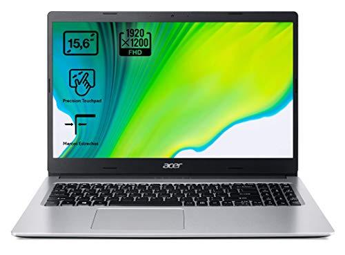 Acer Aspire 3 A315-23 - Ordenador Portátil de 15.6' Full HD con Procesador AMD Ryzen 5-3500U, RAM de 8GB, SSD de 512GB, UMA Graphics, Sin Sistema Operativo, Color Plata - Teclado Qwerty Español