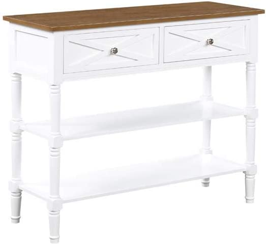 Convenience Concepts Country All items in the store Oxford Table Brand Cheap Sale Venue Console Drif 2-Drawer
