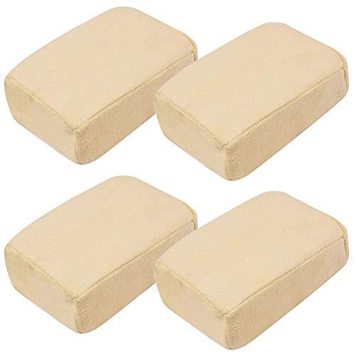 Esponja para Coche Esponjas de Lavado de Coches 4 Piezas Limpiador De Parabrisas Multifuncional Esponja Coche Para Espejos Ventanas Vaso para Limpieza de Coches Motos Cocina Mueble Casa Baño Barco