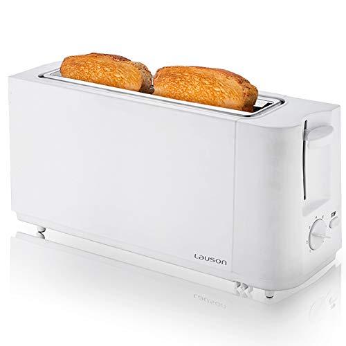 LAUSON ATT111 Toaster Weiß 1 Steckplätze, 6 Bräunungsstufen 900W mit AutoStop (weiß)