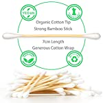 Alyn Bamboo Cotton Buds | Pack of 2 (400 Pieces) | Organic GOTS Certified Wool | 100% Biodegradable Wooden Ear Swabs… 7